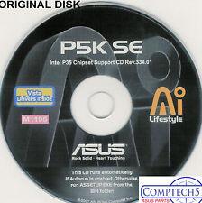ASUS GENUINE VINTAGE ORIGINAL DISK FOR P5K SE LGA Motherboard Drivers Disk M1195