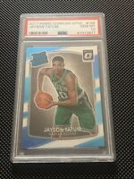 JAYSON TATUM 2017-18 DONRUSS OPTIC ROOKIE RC #198 PSA 10 GEM MINT **CELTICS**