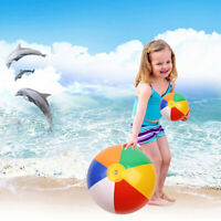 1Pc 22cm Baby Kids Beach Pool Play Ball Inflatable Children Rubber Soft T JR