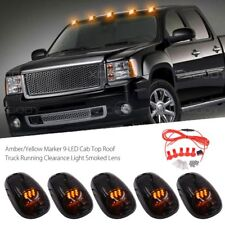 Smoked 5Pcs LED Cab Roof Running Marker Lights Truck SUV Off Road Set