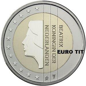 2 EURO    PAYS BAS    2001     PIECE    SUPERBE     HOLLANDE      disponible