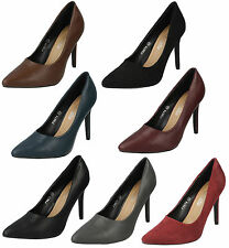 Ladies Spot On High Heel Court Shoes in Various Colours UK Sizes 3-8 : F9674