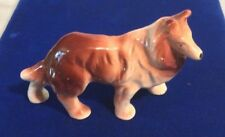 Vintage Porcelain Collie Dog Figurine Made In Japan