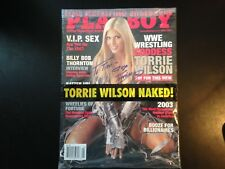 Torrie Wilson, autographed, signed, Playboy, May, 2003, good condition, vintage.