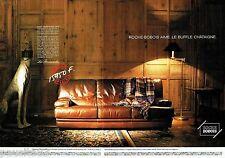 PUBLICITE ADVERTISING 116  1988  Roche Bobois  (2p) canapé les Provinciales bufl