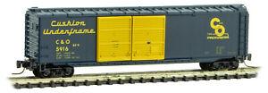 Micro-Trains MTL Z-Scale 50ft Double Door Box Car Chesapeake & Ohio/C&O #5916