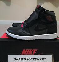 Nike Air Jordan 1 Retro High OG Satin Black Gym Red 555088 060 GS & Men's Sizes