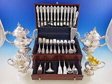 Grande Baroque by Wallace Sterling Silver Flatware Set 12 Dinner Size + Tea Set