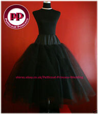 Black Multilayer Crinoline Petticoat Underskirt
