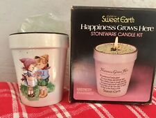 Vintage Stoneware Candle Making Kit Coty Sweet Earth Happiness Grows Here In Box