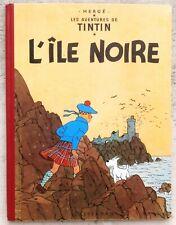 Tintin L'Île Noire B14 1955 Proche Neuf Hergé
