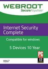 Webroot secureanywhere Internet Security completa 2020 dispositivi 5 ANNO 10