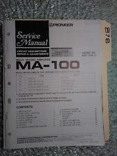 Pioneer ma-100 service manual original repair book multi mixing amp amplifier
