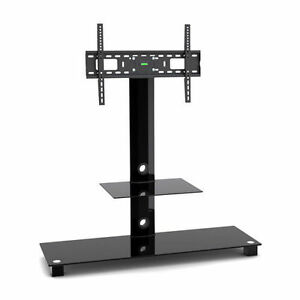 """G-VO 2 Shelf Glass Stand with Bracket for Hitachi 32"""" to 55"""" LCD LED Smart TV'S"""