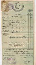 Turquie Turkey türkiy Cumhuriyet Tapu 1931 TC Adana document avec photo (244