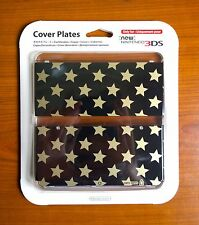 Official New Nintendo 3DS Gold Star & Black N.16 Cover Plate EUR & JAP EXCLUSIVE
