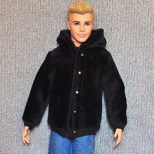 Barbie Ken Doll Fashion Black Clothes Coat For KEN Dolls