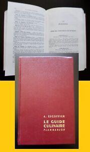 Le Guide Culinaire - Auguste Escoffier / Flammarion 1973 Aide mémoire de cuisine