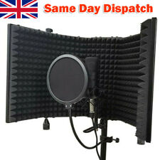 More details for portable microphone booth studio recording vocal microphone isolation shield