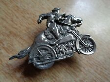 Cowboy Steel Horse Harley Davidson Motorcycle Pin Classic HD Factory Badge Patch