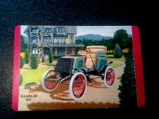 Antique Motor Car Rambler 1901 Vintage Swap Card Collector Card Ephemera