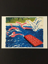 "David HOCKNEY, ""POMERIGGIO Nuoto"" carta promozionale, 2017"