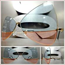 OVERSIZE RETRO Style SUN GLASSES Gold Butterfly Bow Frame Mint Green & Pink Lens
