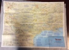 The Making of Texas Map (1986 ) National Geographic Society OldPaperMaps.com