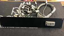 """Used 2 Rack Unit Panel With Mounted EDAC Connectors To XLR And 1/4"""" Leads"""
