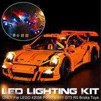 USB LED Light Lighting Kit ONLY Fit For Lego 42056 911 GT3 RS Bricks Toys ☥