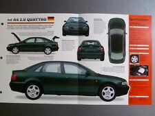 "1995 > AUDI A4 QUATTRO IMP ""Hot Cars"" Spec Sheet Folder Brochure Awesome #1-66"