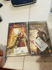 Psp God Of War Ghost Of Sparta /chains Of Olympus (Cases Only )