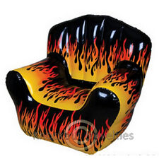 Inflatable Flame Chair Inflate Blow Up Air Light Large Seat Bedroom Decor Fire