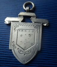 Victorian Silver Fob Medal / Pendant h/m 1896 - Later engraved  The Sally Medal