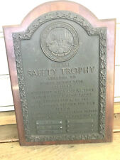 Old 1961-63 Collectible Bronze Safety Trophy Plaque Baltimore Gas & Electric Co