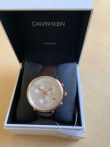 CK CALVIN KLEIN Mens Watch Model HIGH NOON K8M276G6