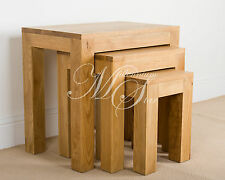 Hampton Solid Oak Nest Of 3 Tables