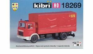Kibri 18269 H0 Feuerwehr MAN Transportfahrzeug Camion Pompiers KIT Neuf
