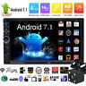 "Quad Core Android 7.1 WIFI 7"" Double 2DIN Car Radio Stereo MP5 GPS Player+Camera"