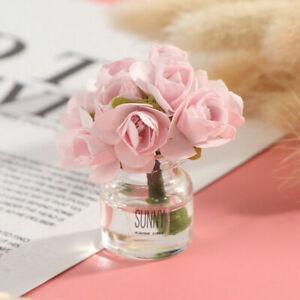 2Pc 1:12 Dollhouse Miniature Flower Fairy Garden Ornament Mini Doll House H.ec
