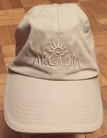 Baseball Cap Hat Arcadia Cruise Front Logo Strapback Fasten One Size Fits All