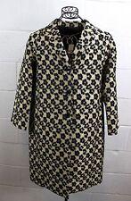 ANN TAYLOR Tan Brown Black Cheetah Leopard Floral Print Jacket Coat M Tall NWT