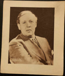Vintage Sepia Printed Portrait: CHARLES LAUGHTON  appr.5.5X6 Suitable for Frame