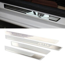 Stainless Scuff Guard Set Door Sill Plate Protector VW JETTA MK4 MK5 MK6 04-13