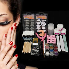 New Acrylic Powder Glitter Nail Brush False Finger Pump Nail Art Tools Kit Set