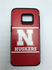 Nebraska Huskers Hard Cell Phone Case Samsung Galaxy S7 - Football Leather Feel