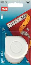 Prym 282717 Spring tape measure Mini, 150cm/60inch, PVC, yellow, white