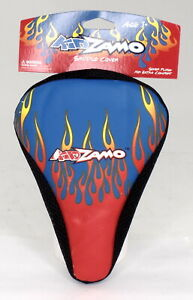 Kidzamo Kid's Bicycle Seat Cover Flames Blue/Red