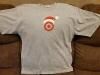 TARGET Stores Holiday Santa Hat Logo Christmas Employee RARE! T-Shirt XL