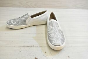 Naturalizer Marianne 4 Slip On Sneakers, Women's Size 8 M, White/Silver NEW